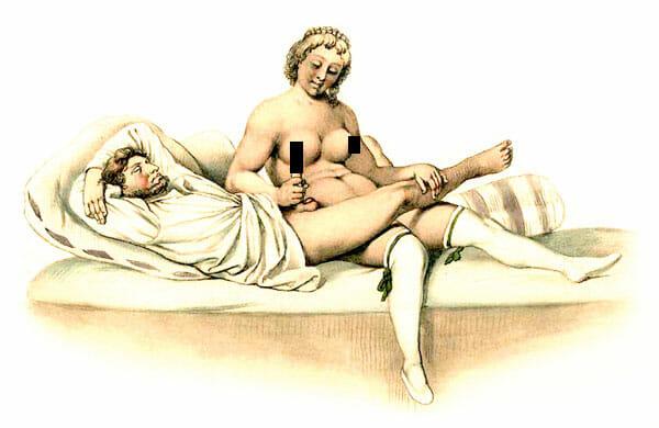 Erotische Handarbeit damals ...