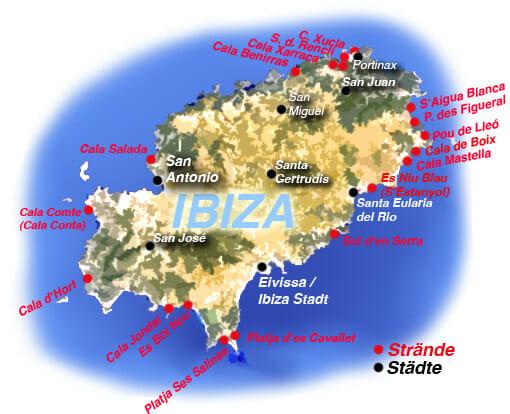 Die schönsten Strände und Buchten in Ibiza