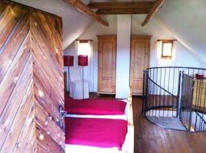Schlafzimmer im Troadkastn